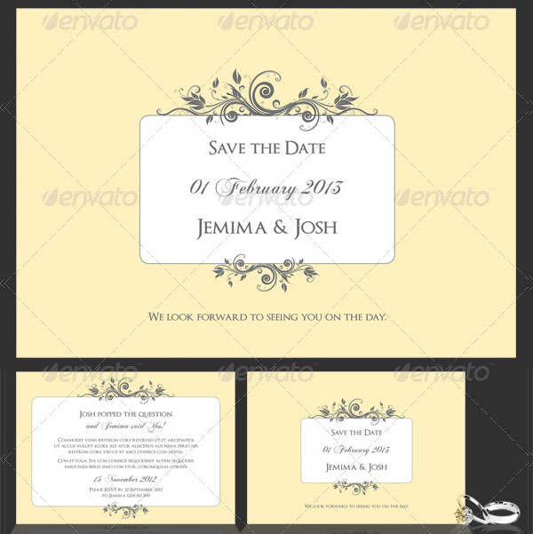 Classic Engagement Invite & Save The Date