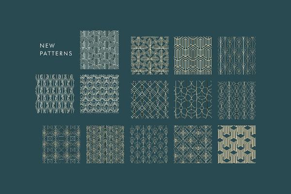 Classy Set of Art Deco Seamless Patterns