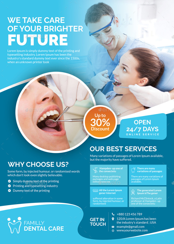 Clean Dental Hospital Flyer Template