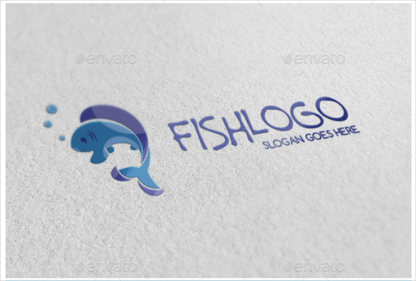 Clean Fish Food Logo Template
