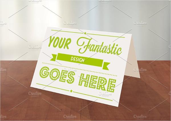 Clean Greeting Card Photoshop Mockup