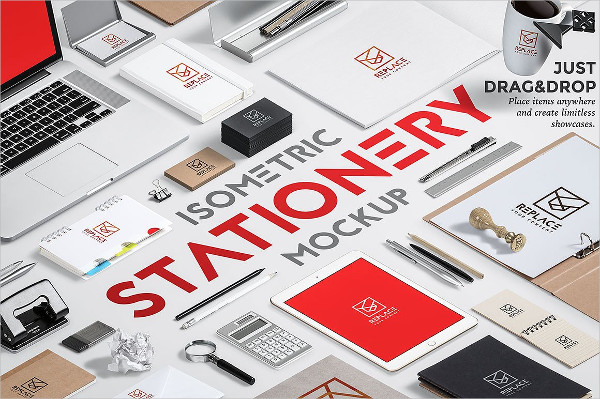 Clean Stationery Mock-Up Generator