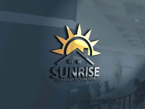 Clean Sunrise Logo Template