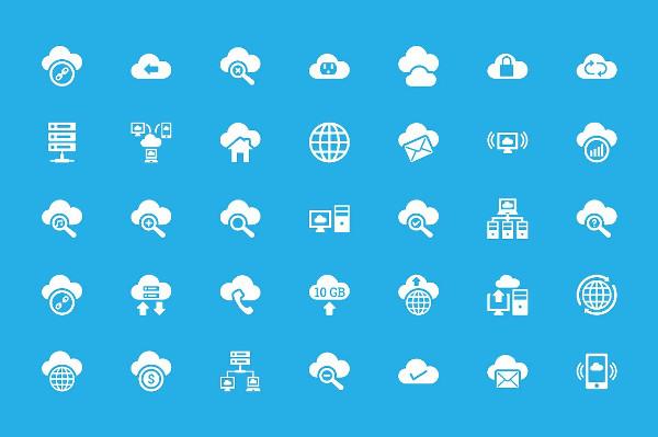 Cloud Computing Vector Icons