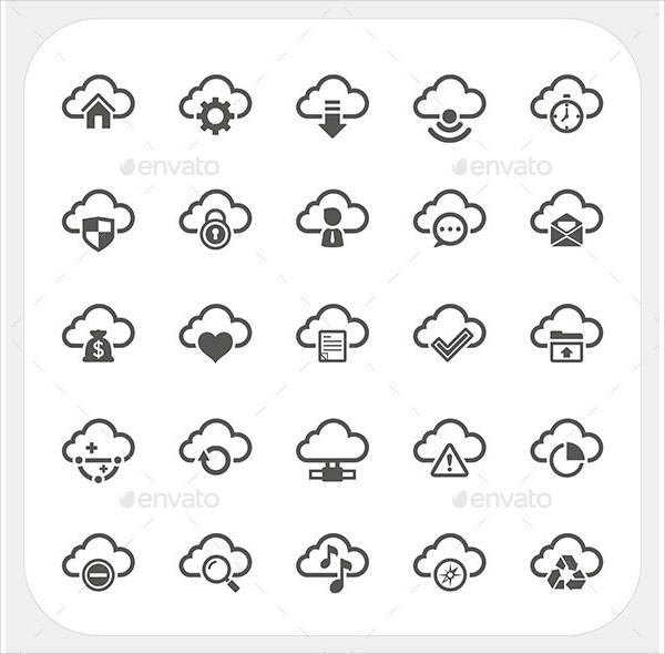Perfect Cloud Icon Set