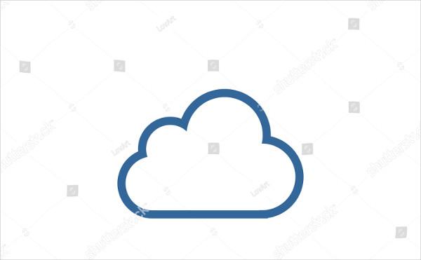 Flat Cloud Icon