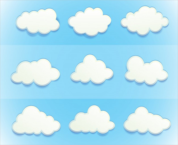 Clouds in the Sky Icons Free Vector