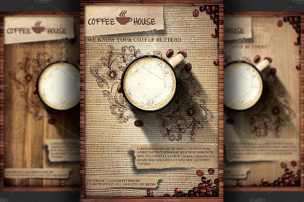 Coffee House Promotion Flyer Template