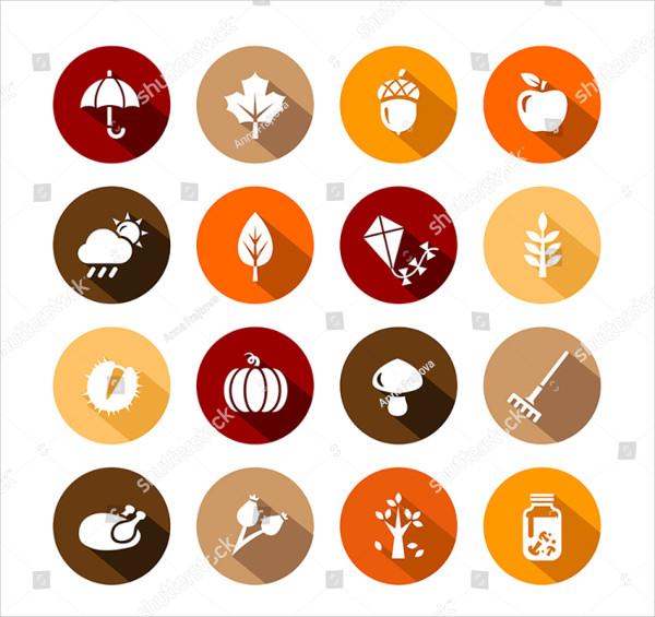 Collection of Autumn Icons & Autumn Symbols