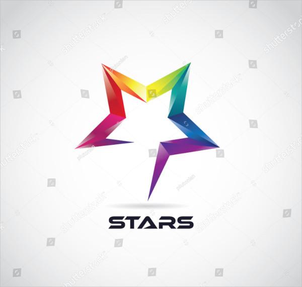 Colorful 3D Stars Logo Design