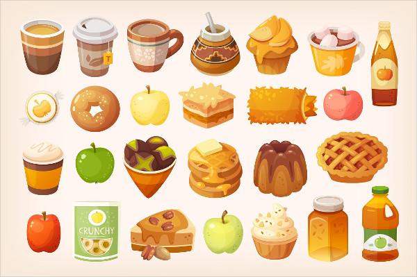 Best Autumn Food Icons