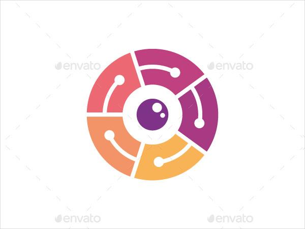 Colorful Circle Camera Logo Template