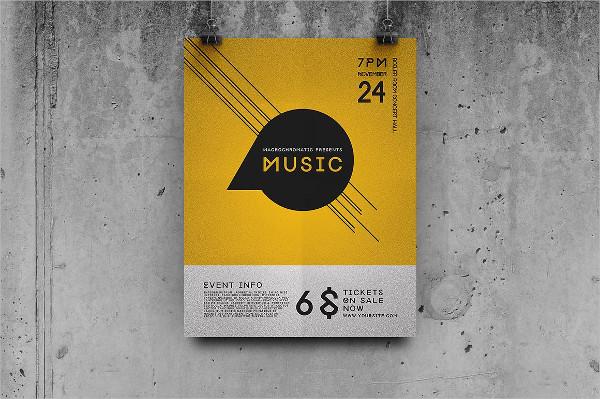 Concert Flat Design Flyer Template