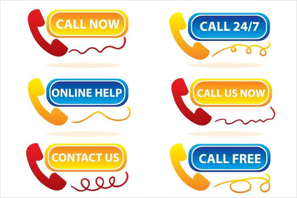 Contact Support Icons Free Vector