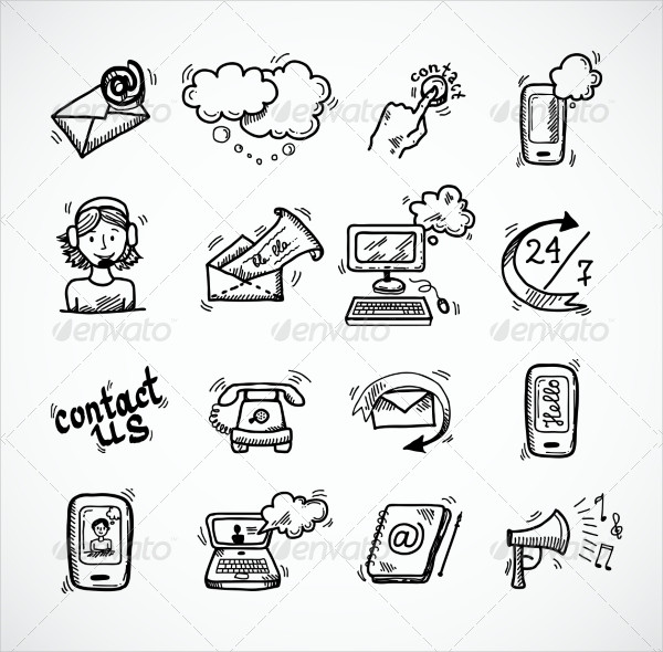 Fully Editable Contact Us Icon Sketch