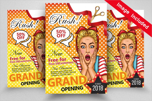Cool Grand Opening Flyers