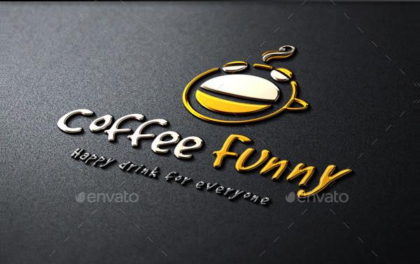 Creative Coffee Funny Logo Design