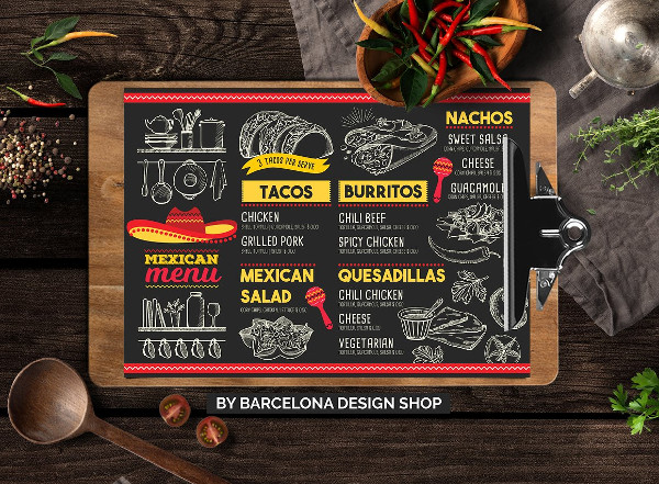 Creative Mexican Food Menu Template