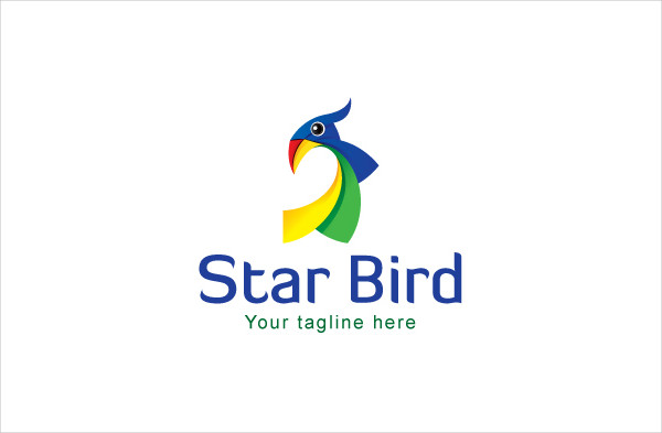 Creative Star Bird Logo Design
