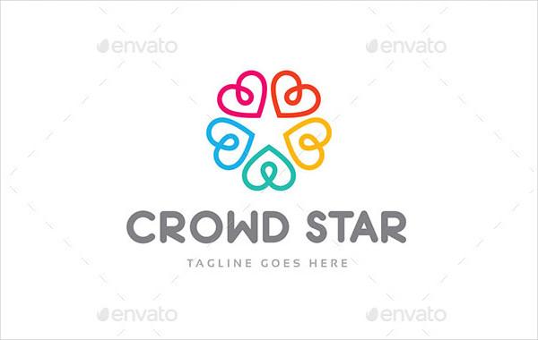 Crowd Star Agency Logo Template