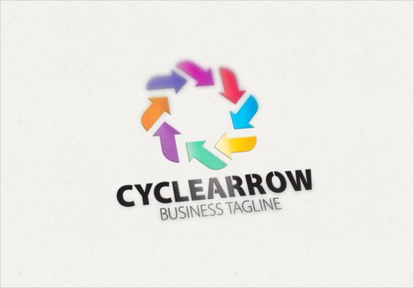 Cycle Arrow Logo Design Template