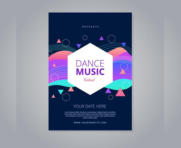 Dance Music Festival Flyer Free Download