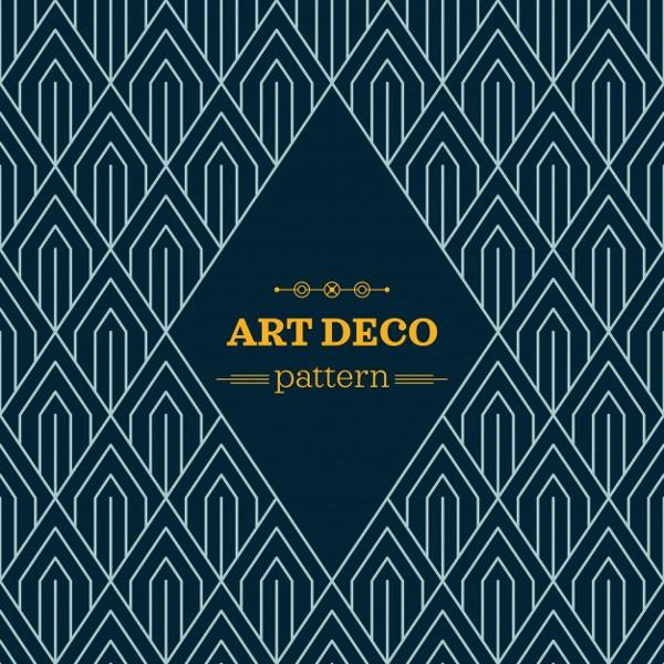Dark Art Deco Pattern Free Download