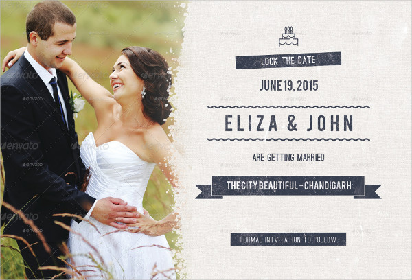 Lock the Date Wedding Postcard Template