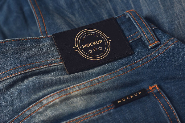 Denim Clothing Label Mockups