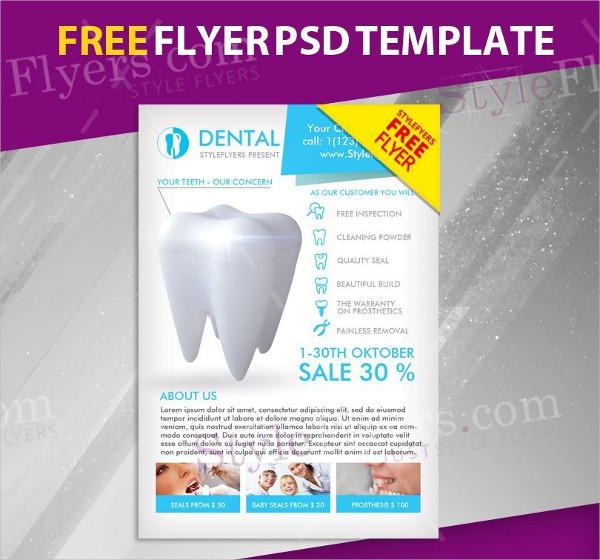 Dental Free PSD Flyer Template