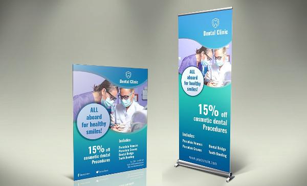Dental Roll-Up Banner & Flyer Template