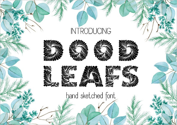 Doodleaf Hand Drawn Decorative Font