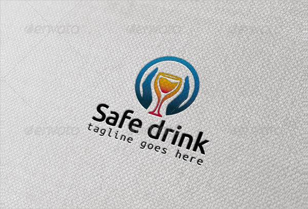Drink Glass Logo Template