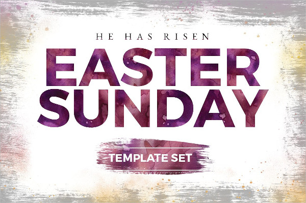Easter Sunday Church Templates Set