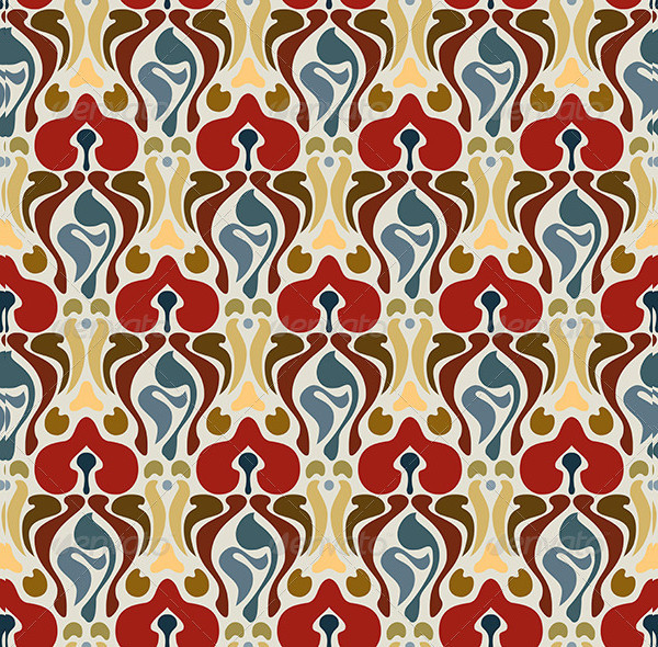 Editable Art Deco Seamless Pattern