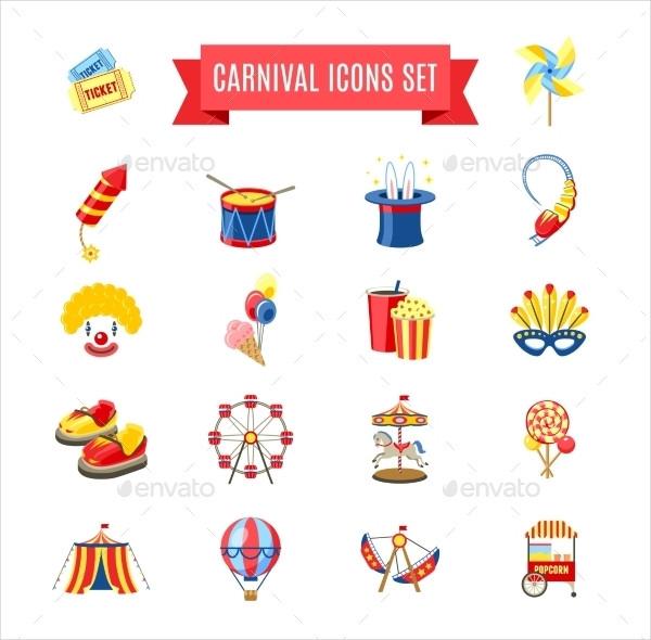 Editable Carnival Icons Set