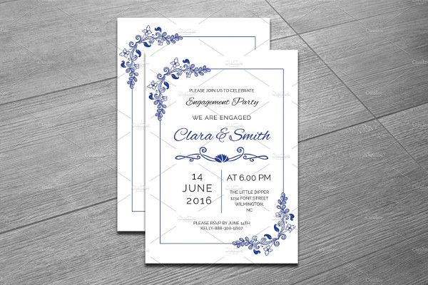 Editable Engagement Party Invitation Template