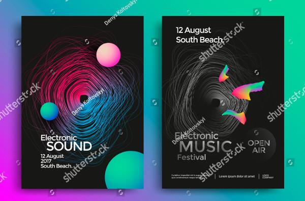 Electronic Music Festival Poster Design
