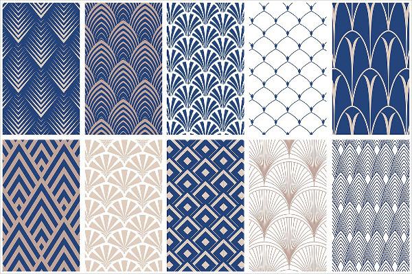 Elegant Art Deco Seamless Patterns