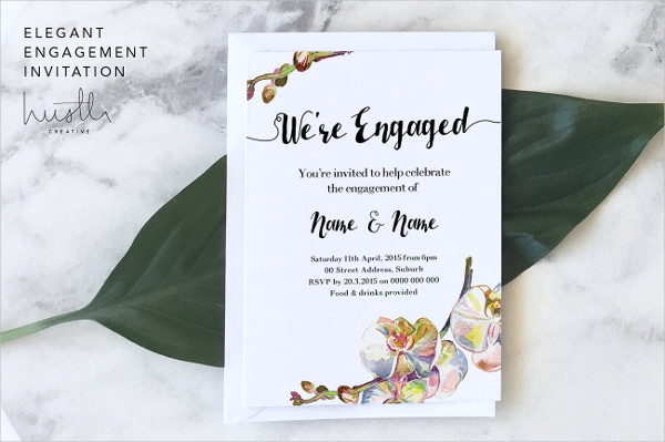 Elegant Engagement Invitation Card Design