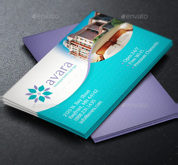 Elegant Hotel Business Card Template