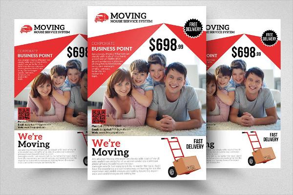 Elegant Moving House Service Flyer Design