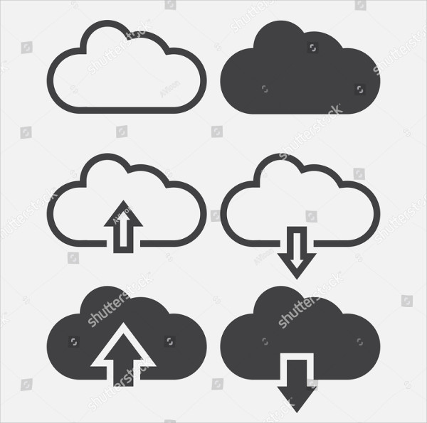 Cloud Line Icons Vector Illustration