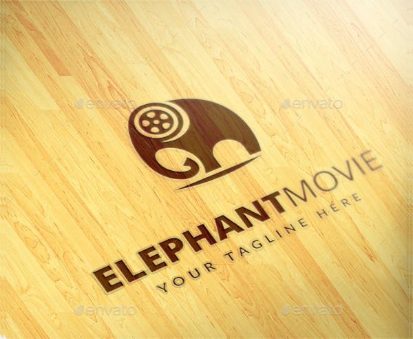 Elephant Movie Logo Template