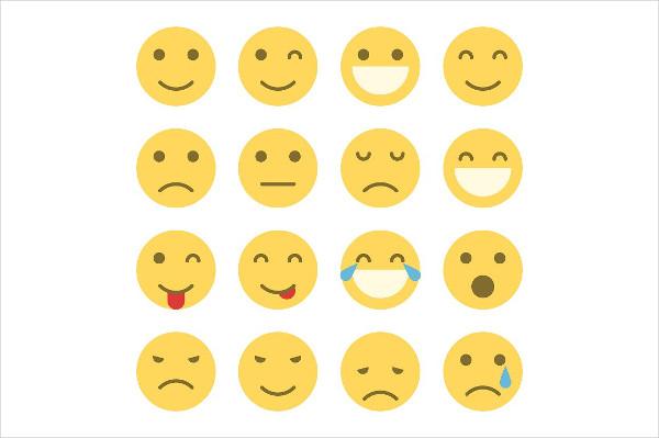 Set of Emoji Faces Icons