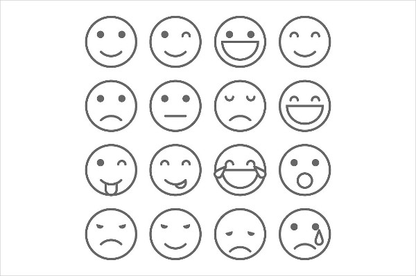 Emoji Faces Simple Icons