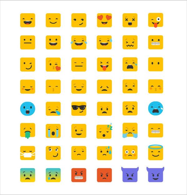 Set of Cool Emoji Icons