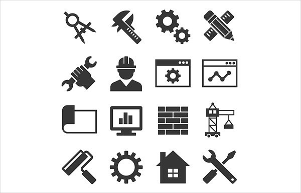 Engineering Equipment Icon Set