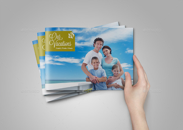 Family Vacation Photo Album Template