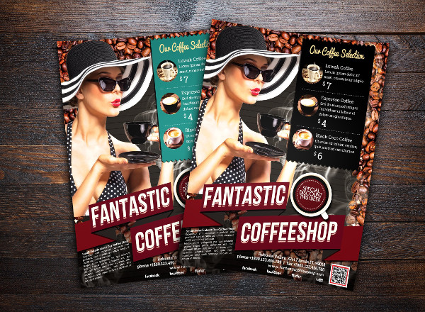 Fantastic Retro Coffee Shop Flyer Template